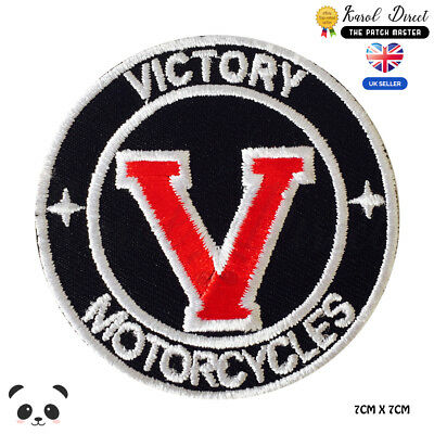 Victory Motorcycles Embroidered Iron On Sew On PatchBadge For Clothes Etc • 2.29£