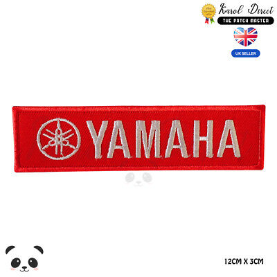 Yamaha Motor Cycle Brand Embroidered Iron On Sew On Patch Badge For Clothes Etc • 1.99£