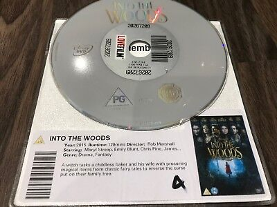 £1.49 • Buy INTO THE WOODS (DVD, 2015) DISC ONLY_  Meryl Streep, Emily Blunt