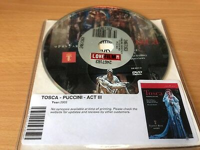 £2 • Buy Tosca Puccini Act Iii Dvd Disc Only