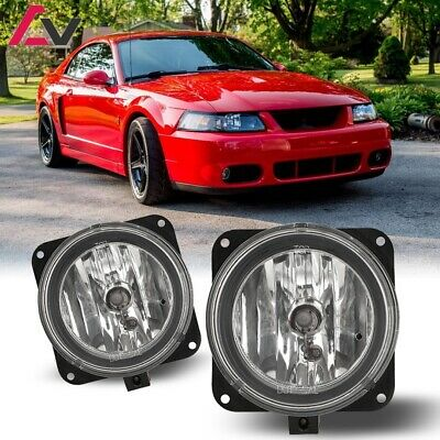 $28.87 • Buy For Ford Mustang Cobra 02-04 Clear Lens Pair Bumper Fog Light OE Replacement DOT