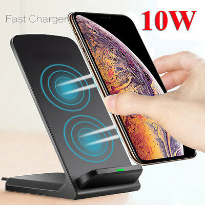$ CDN10.12 • Buy Qi Wireless Fast Charger Charging Stand Dock For Galaxy S20+ IPhone 11 Xs Max