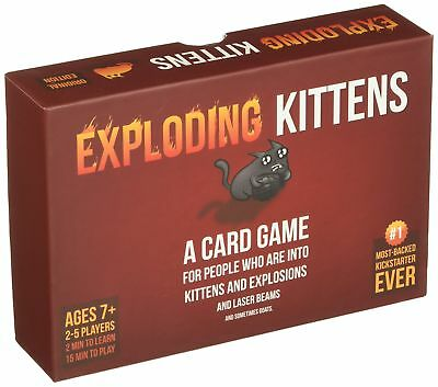 AU40.26 • Buy Genuine Official Exploding Kittens Card Game Board FAST DISPATCH