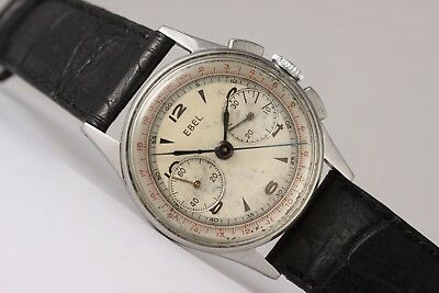 $ CDN2286.64 • Buy Ebel Vintage Chronograph! Lemania Pillar Wheel Movement! All Steel Case!