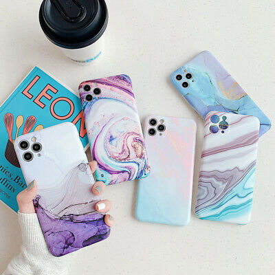 AU4.35 • Buy Camera Protect Marble Soft Gel Case Cover For IPhone 11 Pro Max XS XR X 8 7 Plus