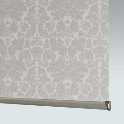 Grey Made To Measure Patterned Dim-out Complete Roller Blind - Serene Concrete • 33£