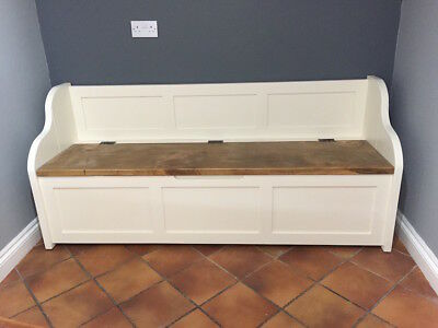 6ft Rustic Style Window Seat/Bench/Settle/Pew With Storage (MADE TO ANY SIZE) • 535£