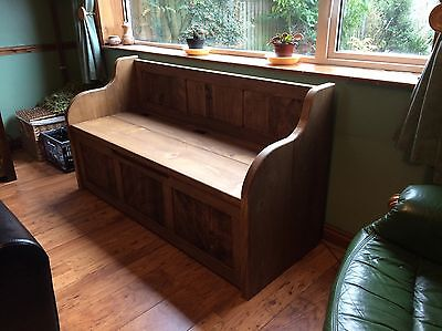 3ft Rustic Style Window Seat/Bench/Settle/Pew With Storage (MADE TO ANY SIZE) • 368£