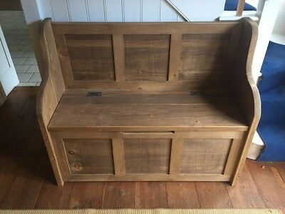 4ft Rustic Monks Bench/Settle/Pew With Storage - Bespoke Sizes Available • 430£
