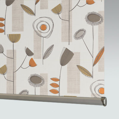 £33 • Buy Made To Measure Patterned Dim-out Complete Roller Blind - Portobello Sienna