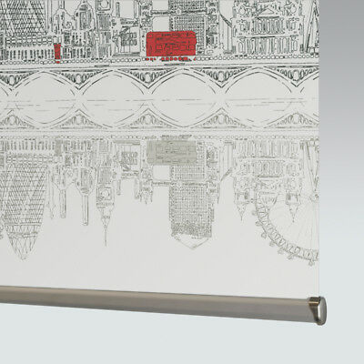 £46 • Buy Made To Measure Patterned Dim-out Complete Roller Blind - Skyline London