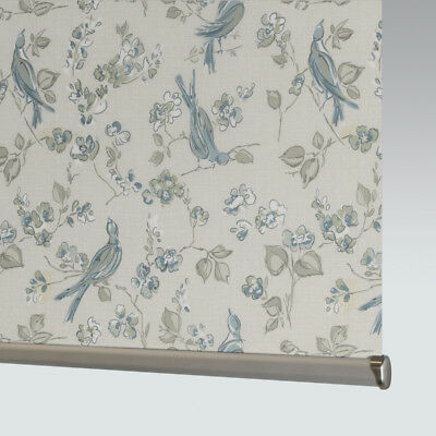 Made To Measure Patterned Dim-out Complete Roller Blind - Tranquillity Fawn • 33£