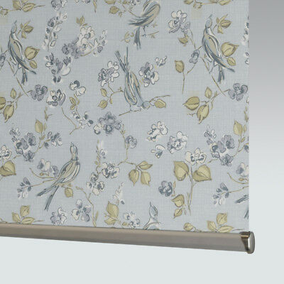Made To Measure Patterned Dim-out Complete Roller Blind - Tranquillity Luna • 46£