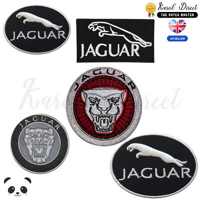 Jaguar Brand Logo Embroidered Iron On /Sew On Patch Badge For Clothes Etc • 1.99£