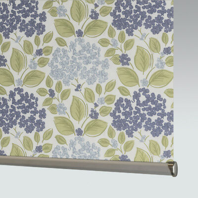 £33 • Buy Made To Measure Patterned Dim-out Complete Roller Blind - Hydrangea Sky