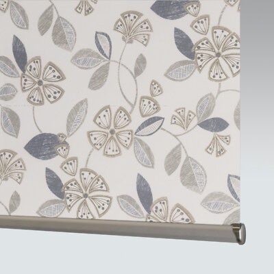 Made To Measure Patterned Dim-out Complete Roller Blind - Flair Neutral • 33£