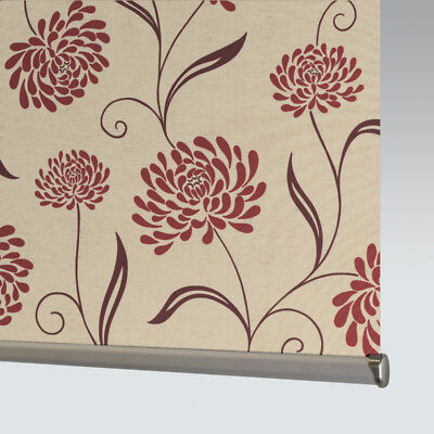 £33 • Buy Made To Measure Patterned Dim-out Complete Roller Blind - Chrysanth Scarlet