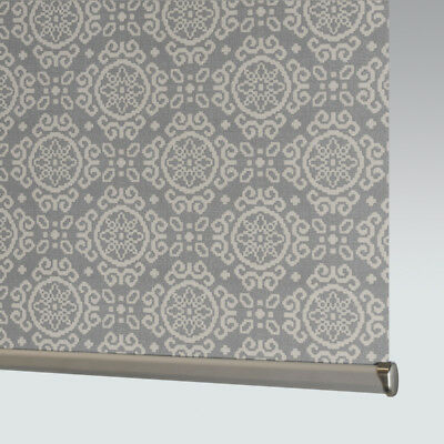 £33 • Buy Made To Measure Patterned Dim-out Complete Roller Blind- Casablanca Grey