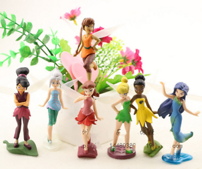 £10.99 • Buy 7pcs Tinker Bell Fairies Princess PVC Action Figures Kids Toys Doll Cake Toppers