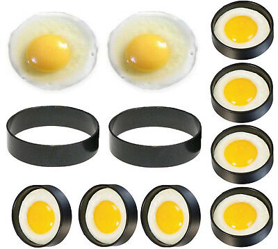 Egg Rings Non Stick Metal Fried Frying Perfect Circle Round Mould Poach Poached • 3.49£