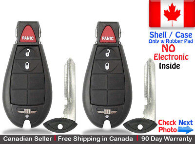 $ CDN29.95 • Buy 2 New Replacement Remote Key Fob For Dodge RAM & Jeep Cherokee Shell / Case