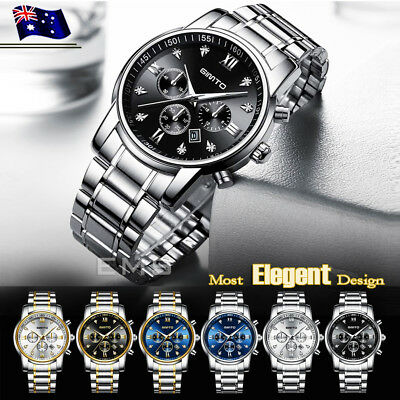 AU24.99 • Buy GIMTO Men's Luxury Watches Date Stainless Steel Waterproof Quartz Wrist Watch