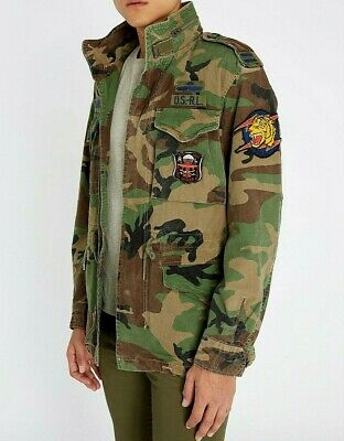 AU427.55 • Buy Polo Ralph Lauren M65 Military Army Camo Soldier Officer Field Jacket Paratroope