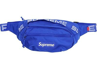 $ CDN400 • Buy New Supreme Waist Bag Fanny Pack SS18 Royal Blue