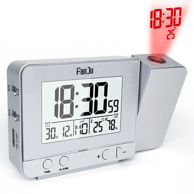 AU27.99 • Buy Smart Digital LED Projection Alarm Clock Time Temperature Projector LCD Display