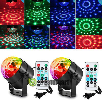 2 Pack RGB Party Disco Lights Ball Sound Activated Strobe Led DJ Bulb Dance Lamp • 21.99$