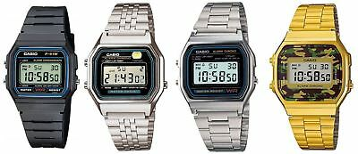 AU14.99 • Buy Casio Digital Watch Classic Vintage Retro Stainless Steel Rubber Band Alarm Stop