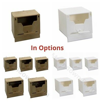 £16.85 • Buy 5X Plastic Finch Nest Box With Hooks Front & Back For Exotic Finch Colour Option