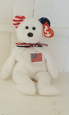 $247.50 • Buy TY WHITE AMERICA Beanie Baby, Reversed Ears W/ Tag 2002 USA