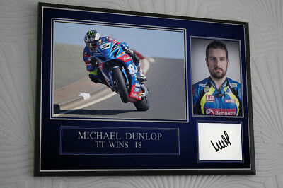 Michael Dunlop TT Motor Cycle Framed Canvas Signed  Great Gift  • 16.99£
