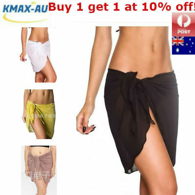 AU7.99 • Buy AU Women Beach Bikini Cover Up Swim Skirt Short Wrap Sarong Beachwear Pareo