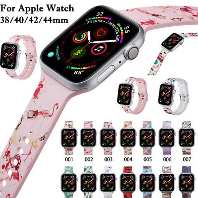 $ CDN6.56 • Buy Silicone Wrist Strap Band Bracelet Apple Watch IWatch Series 4/3/2/1 38/40/44mm