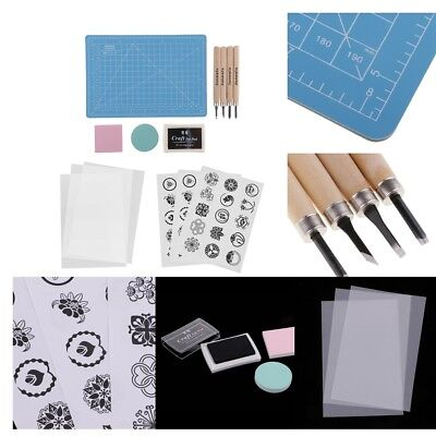 £12.08 • Buy LOT Rubber Stamp Carving DIY Hand Project Learning Craft Tools Kit, 1 SET