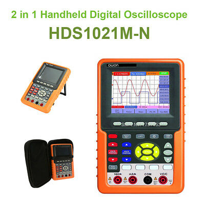 2 In 1 Handheld HDS1021M-N Digital Oscilloscope Auto-Scale FFT Circuit Testing • 179.23£