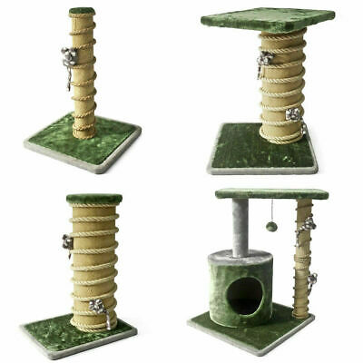 Cat Scratching Post Activity Centre Bed Toys Rope Scratcher Silvervine 4 Designs • 32.99£