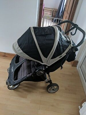 Baby Jogger City Mini Purple/Gray Standard Double Seat Stroller • 175£