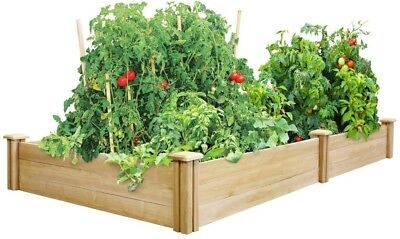 Dovetail Cedar Raised Garden Bed Expandable Outdoor, 4 Ft. X 8 Ft. X 10.5 In. • 81.04£