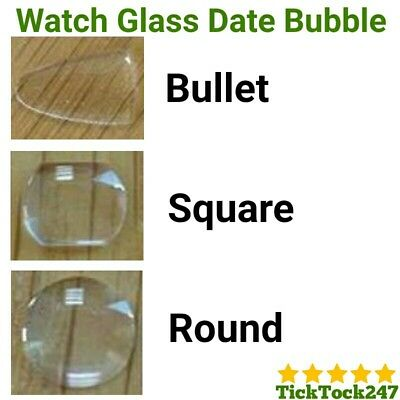 £5.88 • Buy 1 X Watch Bubble Magnifier Magnify Mineral Crystal Glass Date Window Lens