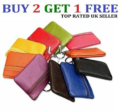 Women Ladies Leather Small Wallet Bag Coin Purse Card Holder Zip Clutch - ClrCn • 2.69£