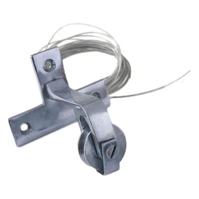 Horizontal Bright Chrome Bell Pull Pulley • 14.99£