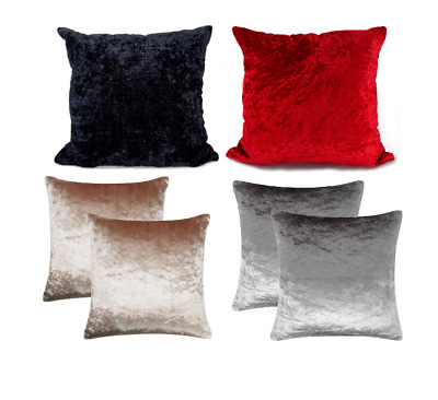 £8.98 • Buy 30x30  Soft Crushed VELVET Cushion Covers Only Or With Filling Sofa Chair Floor