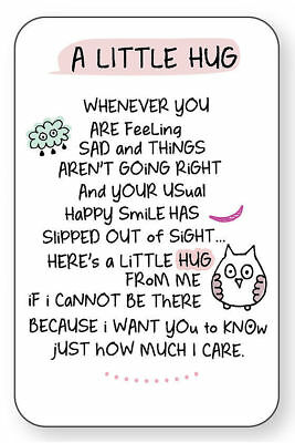 A LITTLE HUG WALLET CARD INSPIRED WORDS Verse Keepsake Sentimental Gift Love💕  • 2.59£