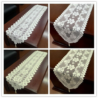 £4.85 • Buy Vintage Lace Table Runner Doilies Wedding Party Valentines Day Decor 33x152cm