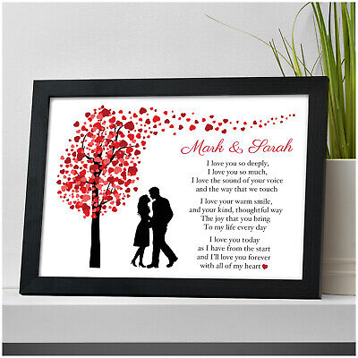 Personalised I Love You Couples Poem Anniversary Gifts For Her Him Wife Husband • 4.95£