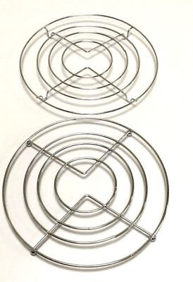 £2.99 • Buy 1 X CHROME HOT PAN POT STANDS STAINLESS STEEL ROUND TRIVET HOLDER KITCHEN