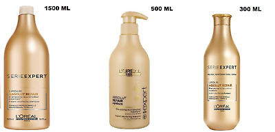 Loreal Professionel Absolut Repair Gold Quinoa+ Protein Shampoo With 4 Sizes UK! • 13.49£